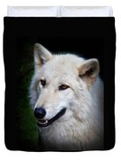 Portrait Of A White Wolf Duvet Cover