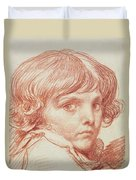 Portrait Of A Young Boy Duvet Cover