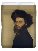 Portrait Of A Young Jewish Man  Duvet Cover by Isidor Kaufmann
