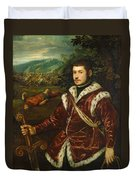 Portrait Of A Young Man As David Duvet Cover