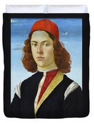 Portrait Of A Young Man Ghirlandaio Duvet Cover