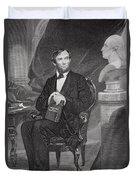 Portrait Of Abraham Lincoln Duvet Cover by Alonzo Chappel