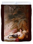 Portrait Of Adelaide Maria Guiness Reclining On A Sofa In A Conservatory Duvet Cover