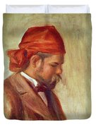 Portrait Of Ambroise Vollard 1868-1939 Oil On Panel Duvet Cover