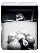 Portrait Of An Awesome Pool Player Duvet Cover