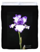 Portrait Of An Iris Duvet Cover