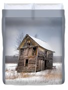 Portrait Of An Old Shack - Agriculural Buildings And Barns Duvet Cover