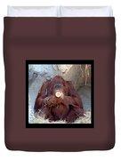 Portrait Of An Orangutan Duvet Cover