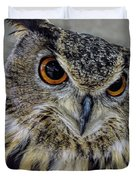 Portrait Of An Owl Duvet Cover
