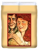 Portrait Of Andrew And Sarah Duvet Cover