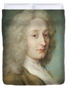 Portrait Of Antoine Watteau 1684-1721 Pastel On Paper Duvet Cover