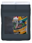 Portrait Of Ayrton Senna Duvet Cover