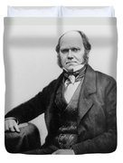 Portrait Of Charles Darwin Duvet Cover by English Photographer