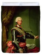 Portrait Of Charles IIi 1716-88 C.1761 Oil On Canvas Duvet Cover