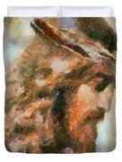 Portrait Of Christ Duvet Cover