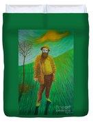 Portrait Of Claude Monet Duvet Cover