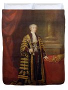 Portrait Of Colonel Sir Samuel Wilson, Lord Mayor Of London, 1838 Oil On Canvas Duvet Cover