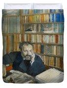 Portrait Of Edmond Duranty, 1879 Duvet Cover