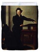 Portrait Of Eduard Gans 1829 Duvet Cover