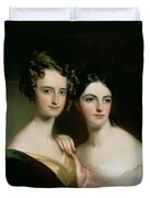 Portrait Of Ellen And Mary Mcilvaine, 1834 Oil On Canvas Duvet Cover