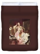 Portrait Of Emma And Frederica Bankes Duvet Cover