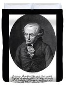 Portrait Of Emmanuel Kant  Duvet Cover by German School
