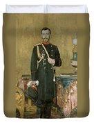 Portrait Of Emperor Nicholas II 1868-1918 1895 Oil On Canvas Duvet Cover