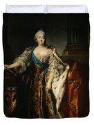 Portrait Of Empress Elizabeth, 1758 Oil On Canvas Duvet Cover