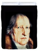 Portrait Of Georg Wilhelm Friedrich Hegel Duvet Cover