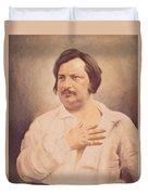 Portrait Of Honore De Balzac Duvet Cover