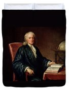 Portrait Of Isaac Newton Duvet Cover