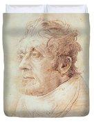 Portrait Of Jmw Turner Duvet Cover by Cornelius Varley