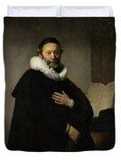 Portrait Of John Wtenbogaert Duvet Cover
