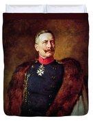 Portrait Of Kaiser Wilhelm II 1859-1941 Duvet Cover