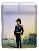Portrait Of King William Iv Plate 14 Duvet Cover