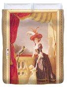 Portrait Of Louise-elisabeth De France 1727-59 Duchess Of Parma And Her Son Ferdinand 1751-1802 Duvet Cover