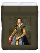Portrait Of Maria De Medici Or Eleonora Di Garzia Di Toledo Duvet Cover