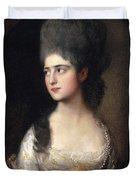 Portrait Of Miss Elizabeth Linley  Later Mrs Richard Brinsley Sheridan Duvet Cover