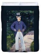 Portrait Of Monsieur Brun Duvet Cover