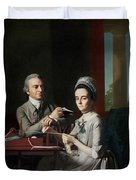 Portrait Of Mr And Mrs Thomas Mifflin Duvet Cover