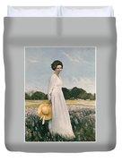Portrait Of Mrs Lyndon B Johnson Duvet Cover by Mountain Dreams