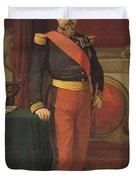 Portrait Of Napoleon IIi 1808-73 1862 Oil On Canvas Duvet Cover