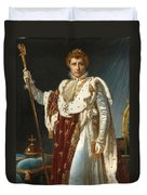 Portrait Of Napoleon In Coronation Robes Duvet Cover