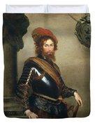 Portrait Of Nicolo Raggi Duvet Cover by Bernardo Strozzi