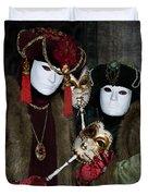 Venetian Carnival - Portrait Of Nobles Duvet Cover