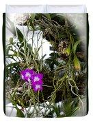 Portrait Of Orchids Duvet Cover