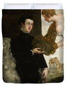 Portrait Of Ottavio Strada Duvet Cover