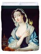Portrait Of Peg Woffington Duvet Cover