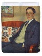 Portrait Of Peter Kapitza 1926 Duvet Cover