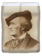 Portrait Of Richard Wagner German Duvet Cover